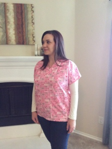 Mommy Scrubbs in Pink Print