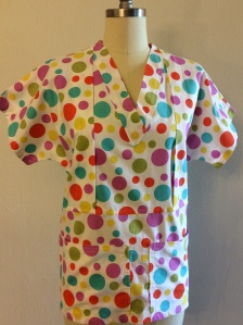 Mommy Scrubbs in Rainbow Dots